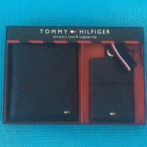 """Tommy Hilfiger"" passport case&luggage tag. New!"